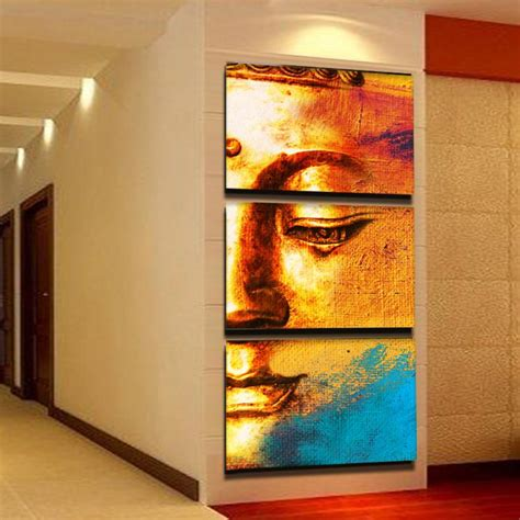 canvas painting for home decoration free shipping gold buddha oil painting wall art paintings