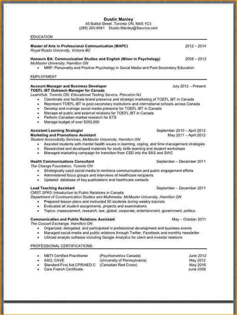 Whats A Resume Look Like by 6 What Does A Resume Look Like Basic Appication Letter