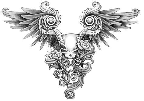 skull with wings tattoo designs winged skull by annikki on deviantart