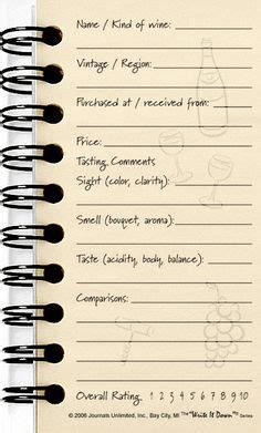 wine journal template wine tasting score card and template by none via polyvore