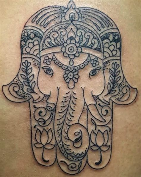 elephant hamsa tattoo 50 deeply symbolic hamsa tattoos you can t resist to get