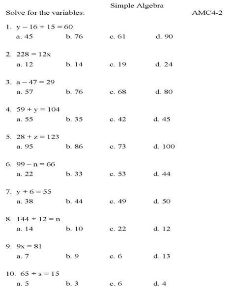 Algebra Ii Worksheets by 7 Best Images Of College Algebra Worksheets Printable Algebra Math Worksheets Printable
