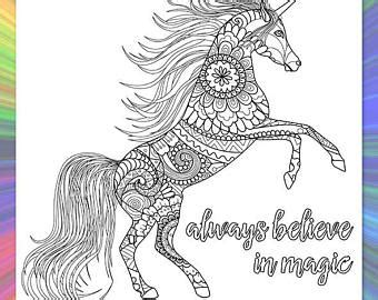 believe in miracles a unicorn coloring book unicorn coloring books volume 1 books unicorn coloring etsy