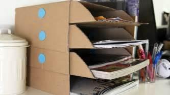 Diy Desk Organization Diy Cardboard Desk Organizer Shoplet