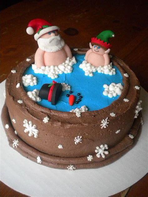 santa in the bathtub santa hot tub cake poor frosty hot tubs pools pinterest hot tubs christmas