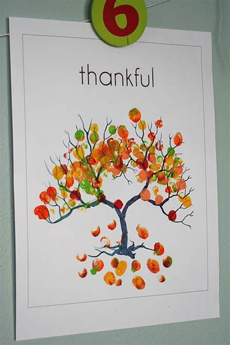 thankful tree template make a thanksgiving fingerprint tree apartment therapy