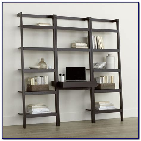 leaning ladder bookcase with desk bookcase 64832