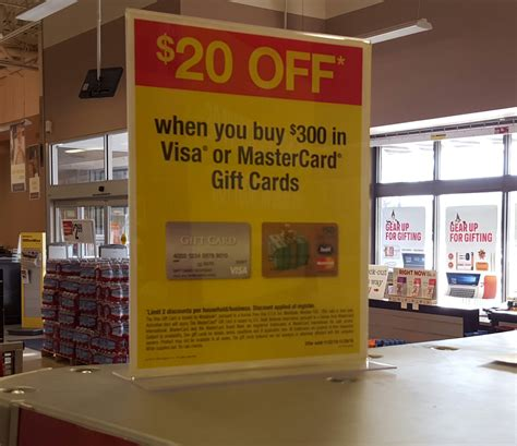 Gift Cards Visa Or Mastercard - 20 instant rebate on 300 in visa or mastercard gift cards at officemax frequent miler