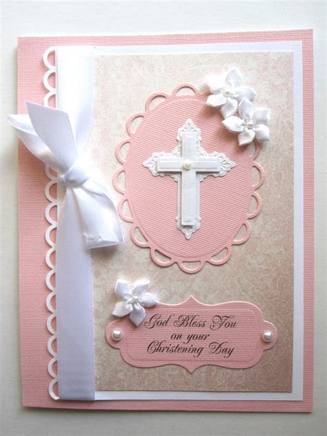 Handmade Communion Invitations - handmade christening or communion card for can be