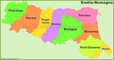 romagna est emilia romagna provinces map