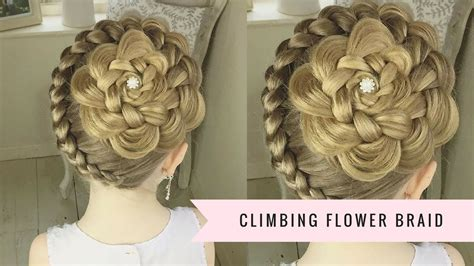 hairstyle design youtube the climbing flower braid by sweethearts hair youtube