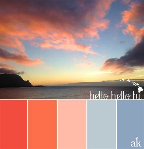 sunset color a hawaiian sunset inspired color palette neon