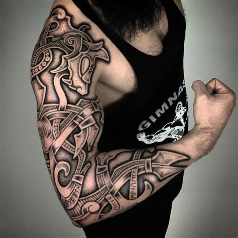 scandinavian tribal tattoos 25 best ideas about viking sleeve on
