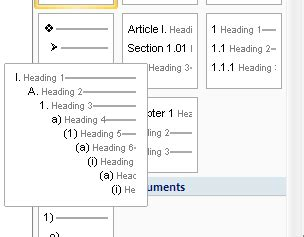 Multi Level Outlines Definition by Word 2007 Using Multilevel List Numbering Uwec