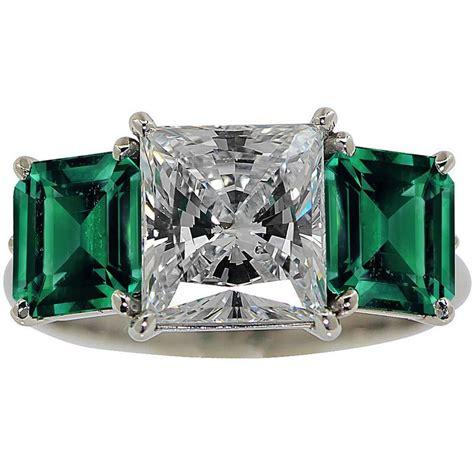 stunning 2 32 carat princess cut emerald