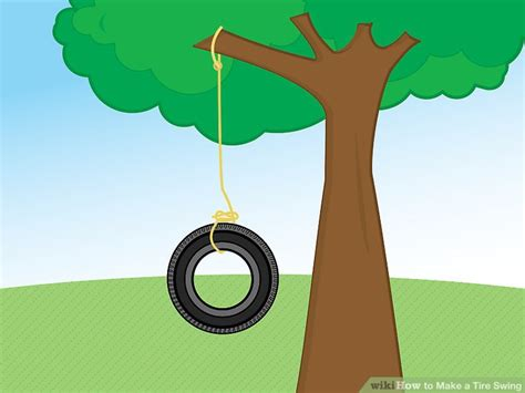 how to draw a tire swing how to make a tire swing with pictures wikihow