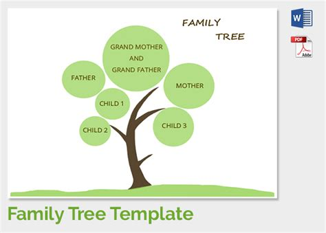 family tree template family tree template 37 free printable word excel pdf