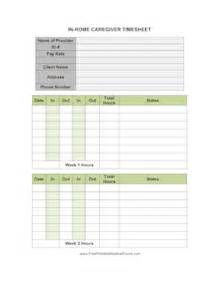 printable in home caregiver timesheet