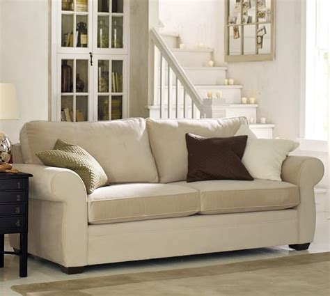 who makes pottery barn couches pearce upholstered sofa pottery barn