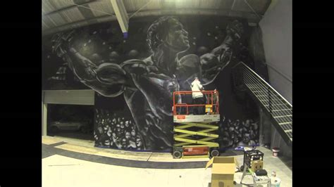 How To Paint Wall Murals arnold schwarzenegger aerosol mural time lapse melburn