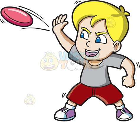 frisbee clipart a boy aggressively throws a frisbee clipart