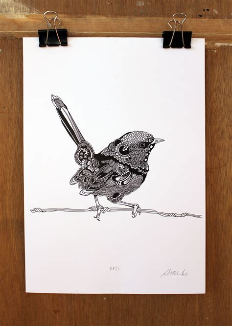 wren tattoo elementedenartsearch erika walter ink drawing by