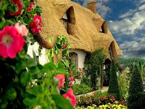 Cottage Wallpapers by Wallpaper Desk Cottage Garden Wallpaper Cottage Garden