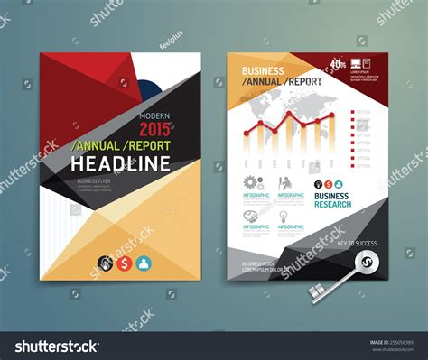 poster design report vector brochure flyer magazine cover booklet stock vector