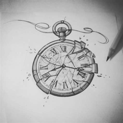 broken clock tattoo broken tattoosketch tattoos