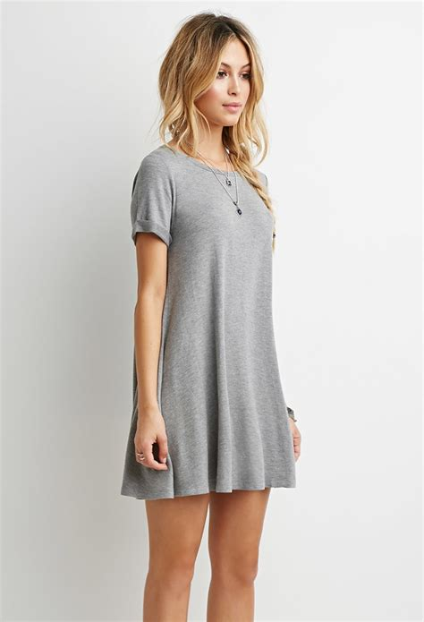 Kaos T Shirt Guinness 1799 forever 21 heathered t shirt dress in gray lyst