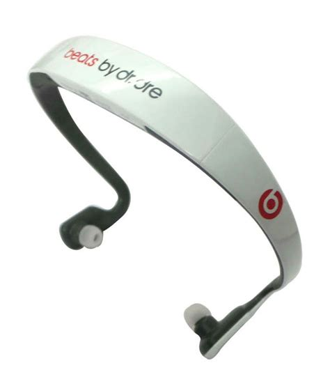 Headset Bluetooth Beats Audio Buy Beats Sports Bluetooth Stereo Headset White
