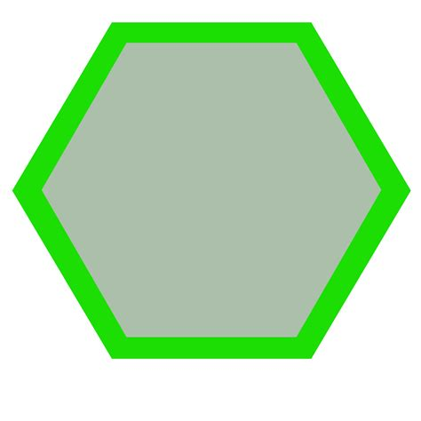 hexagonal template 8 inch hexagon template clipart best