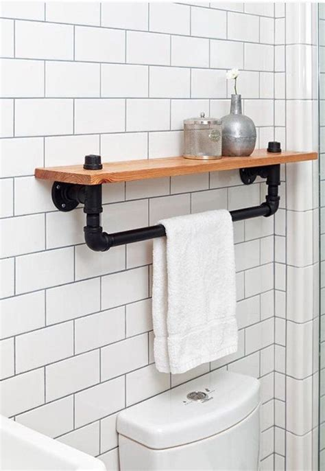 badezimmer regal industrial die besten 25 rustikales industrial dekor ideen auf