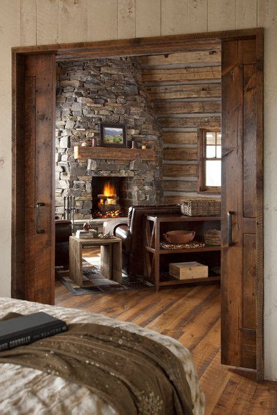 Small Cabin Fireplace by Pin By On Cabins And Interior Design