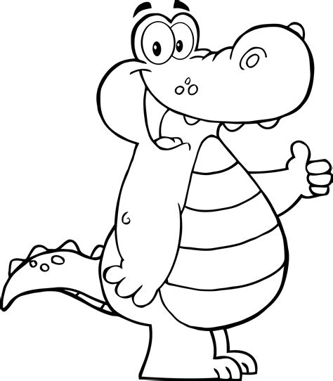 coloring page thumbs up coloring page of alligator showing thumbs up coloring point