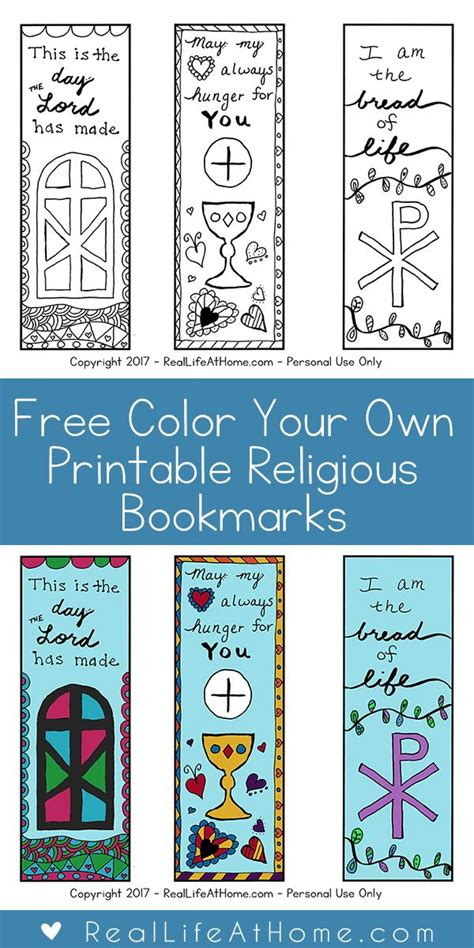 printable color your own bookmarks free color your own printable religious bookmarks for