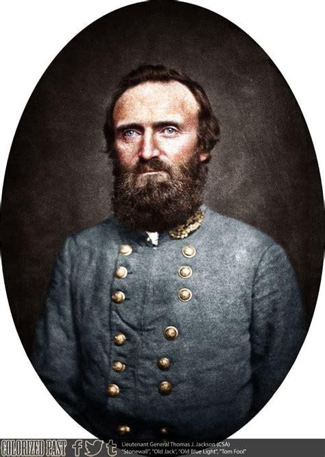 confederate general thomas stonewall jackson colorized