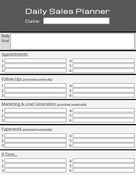 Daily Sales Planner Template 46 of the best printable daily planner templates