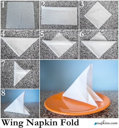 Simple Paper Folding Techniques - basic paper napkin folding learn simple napkin fold