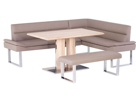 Tabor Lhf Corner Sofa Dining Table Bench Set Lee Dining Table With Sofa