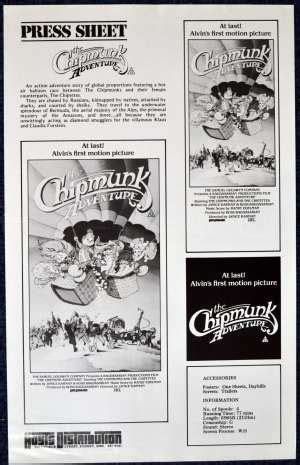 dvd format for australia all about movies the chipmunk adventure 1987 movie press