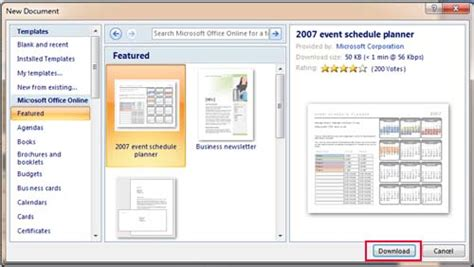 how to find templates in word microsoft office 2007 completed free