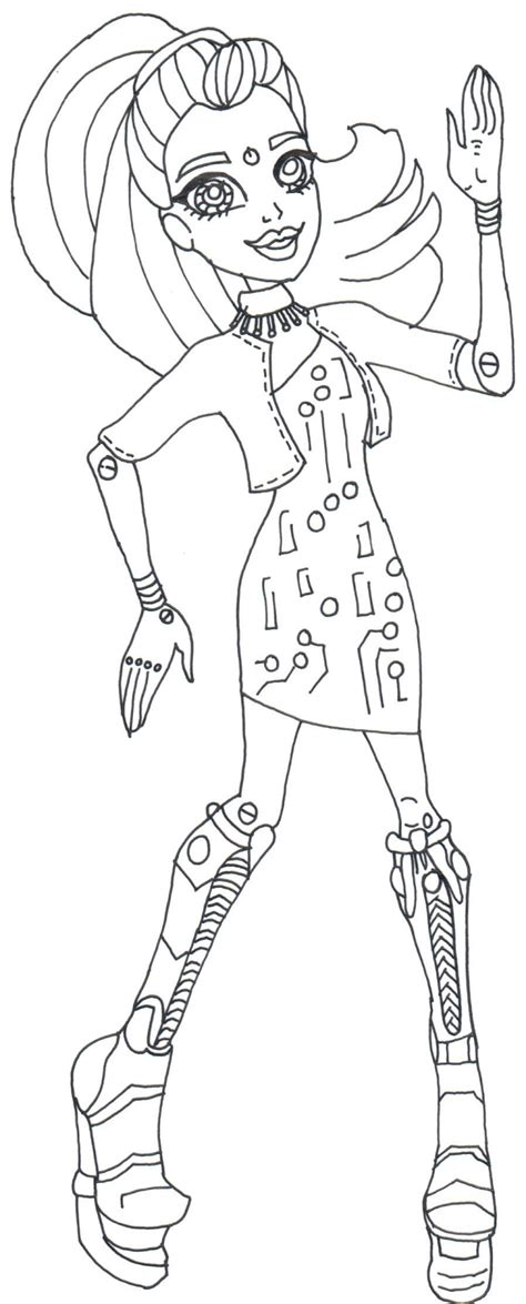 monster high gooliope coloring pages nefera boo york coloring page coloring pages