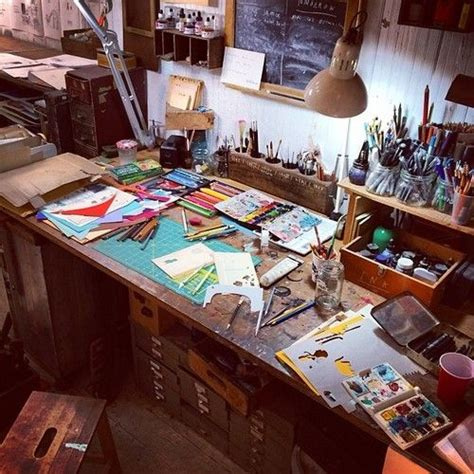 Artist Desk by Artist Oliver Jeffers Desk Artists And Their Studios