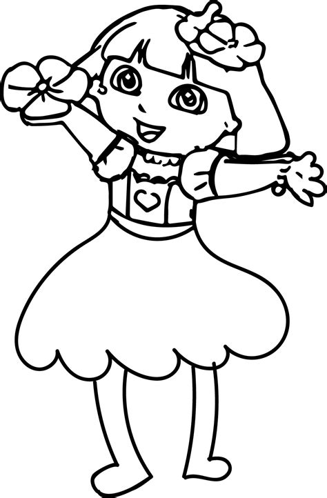 happy flower coloring page dora makeover med happy flower coloring page wecoloringpage