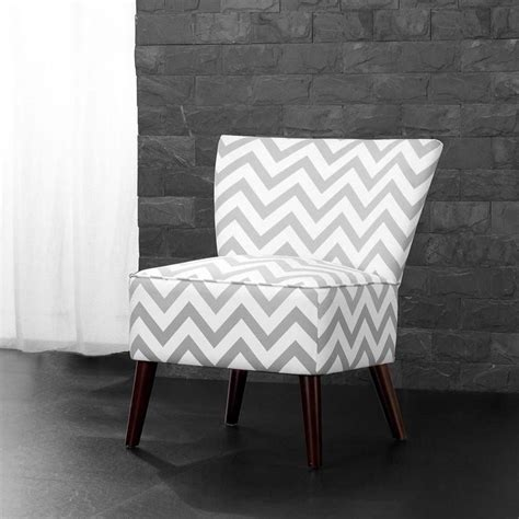 Chevron Accent Chair Chevron Accent Chair In White And Gray Wm3997 Mwc