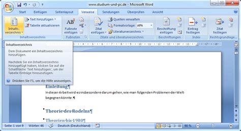Word Vorlage Inhaltsverzeichnis Erstellen Inhaltsverzeichnis Erstellen Abfallprodukt Der Formatvorlagen