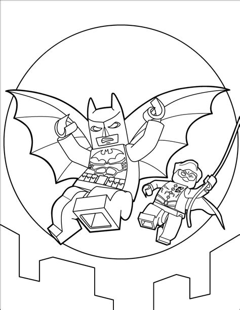 Lego Batman Coloring Pages Hellokids Com Coloring Pages Of Lego Batman