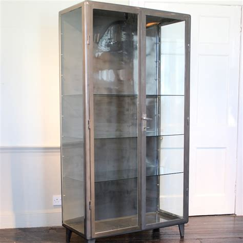 Steel And Glass Cabinet by Pair Of 1940s Steel Glass Bathroom Cabinets Furniture