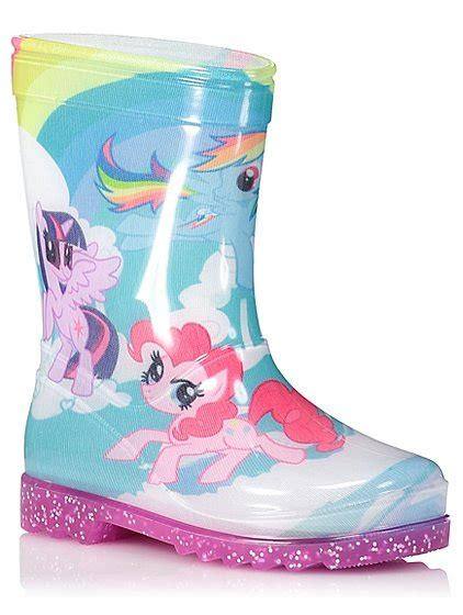 light up rain boots my little pony light up wellington boots kids george